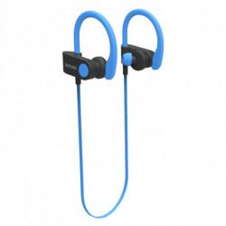 Denver Electronics BTE-110 BLUE auriculares para móvil Binaural Banda para cuello Negro, Azul 111191120080