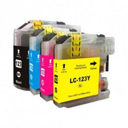 Inkoem Cartuccia d'inchiostro compatibile LC123 Giallo