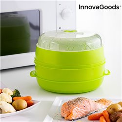 Vaporiera Doppia per Microonde Fresh InnovaGoods