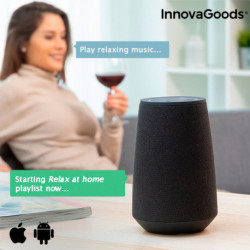 InnovaGoods Altavoz Bluetooth Inteligente Asistente de Voz VASS