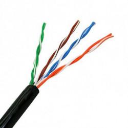 NANOCABLE Câble Réseau Rigide UTP 5ème Catégorie 10.20.0302-EXT-BK 100 m Noir
