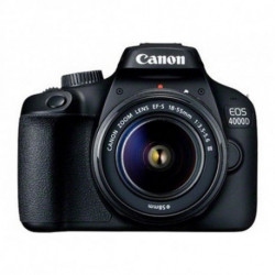 Canon EOS 4000D Kit d'appareil-photo SLR 18 MP 5184 x 3456 pixels Noir 3011C003
