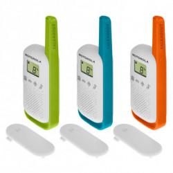 Motorola TALKABOUT T42 two-way radios 16 canales Azul, Verde, Naranja, Blanco 188119