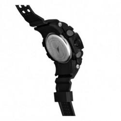 Brigmton BWATCH-G1-A montre intelligente Noir, Bleu 2,84 cm (1.12)