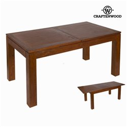 Table extensible Bois mindi (160 x 90 x 78 cm) - Collection Nogal by Craftenwood