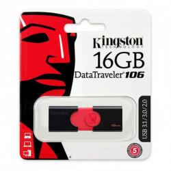 Kingston Technology DataTraveler 106 unidade de memória USB 128 GB USB Tipo A 3.0 (3.1 Gen 1) Preto, Vermelho DT106/128GB