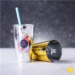 Bicchiere di Vetro (480 ml) 145985 Dorato
