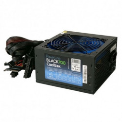 CoolBox Powerline Black 700 unité d'alimentation d'énergie 700 W ATX Noir COO-FAPW700-BK