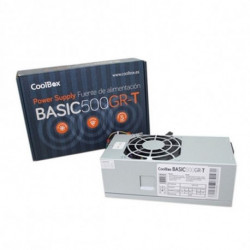 CoolBox BASIC500GR-T fonte de alimentação 500 W TFX Cinzento COO-FA500TGR
