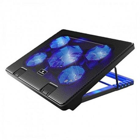 CoolBox COO-NCP17-5BL système de refroidissement pour ordinateurs portables 43,2 cm (17) 2000 tr/min Noir
