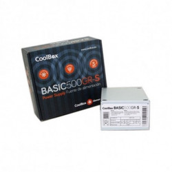 CoolBox BASIC500GR-S alimentatore per computer 500 W SFX Bianco COO-FA500SGR