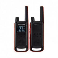 Motorola Walkie-Talkie T82 (2 Pcs) Negro Naranja