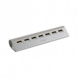 CoolBox Hub USB COOHU7ALU2 Aluminio (7 puertos)