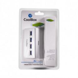 CoolBox COO-HU4ALU3 hub de interfaz USB 3.0 (3.1 Gen 1) Type-A 5000 Mbit/s Plata