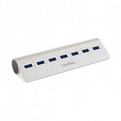 CoolBox COO-HU7ALU3 interface hub USB 3.0 (3.1 Gen 1) Type-A 5000 Mbit/s Silver