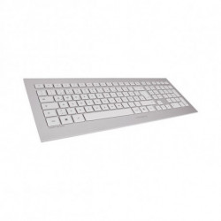 CHERRY DW 8000 teclado RF Wireless QWERTY Espanhol Prateado, Branco JD-0310ES