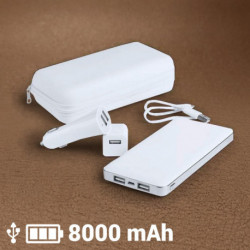 Set di Caricabatterie 8000 mAh (3 pcs) 144967 Bianco