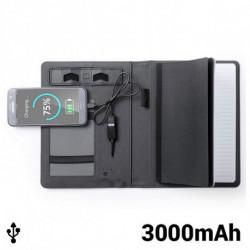 Bloc de Notes avec Power Bank 3000 mAh 145397 Noir