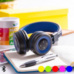 Bluetooth Headphones with Hands-free and Integrated Control Panel 145562 Blue