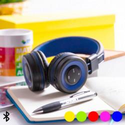Bluetooth-Headset mit integriertem Bedienfeld 145562 Fuchsienrot