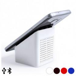Haut-Parleur Bluethooth avec Support pour Téléphone Portable 3W 145566 Blanc