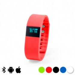 Montre intelligente 0,49 LCD Bluetooth 145314 Rouge