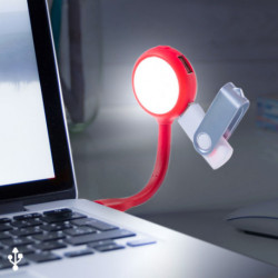 Lampe LED avec Ports USB 144858 Blanc