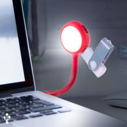 Lampada LED con Porte USB 144858 Rosso