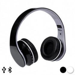 Auriculares de Diadema Plegables con Bluetooth 144938 Blanco