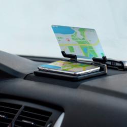 Support pour Téléphone Portable avec Miroir pour Voiture 145749 Noir