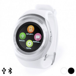 Smartwatch 1,22 LCD USB Bluetooth 145788 Blanco