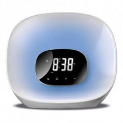 Daewoo Radio Sveglia DCR-470 LED Bianco