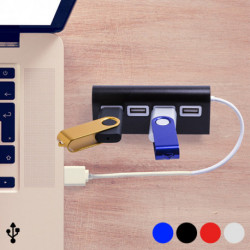 Hub USB 4 Puertos 145201 Plateado