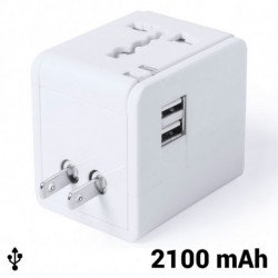Steckeradapter 2100 mAh 145303 Weiß