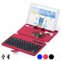 Tastiera Bluetooth con Supporto per Dispositivo Mobile 145739 Azzurro