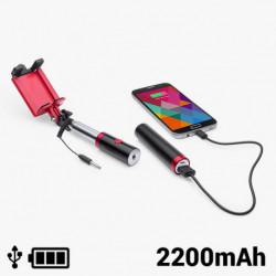 Palo Selfie con Power Bank 2200 mAh 145200 Negro