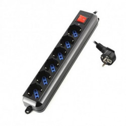 Ewent EW3924 power extension 1.5 m 6 AC outlet(s) Black