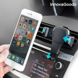 InnovaGoods Support Gravitationnel de Téléphones Portables pour Voiture