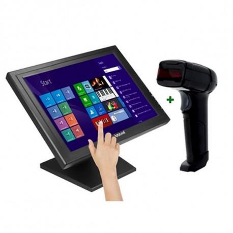 iggual IGG316283 monitor touch screen 43,2 cm (17) 1280 x 1024 Pixel Nero