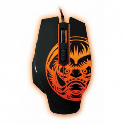 iggual Ratón Gaming IGG315804 LED Negro Naranja
