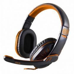 iggual Gaming Headset with Microphone ONAJI Black Orange