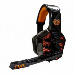 iggual Casques avec Micro Gaming TEKE Noir Orange