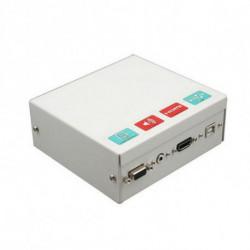 Traulux Caixa de ligações para Quadro Interactivo TCCB5M HDMI VGA 3,5 mm USB Metal