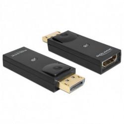 DELOCK Adaptateur DisplayPort vers HDMI 65258 Noir