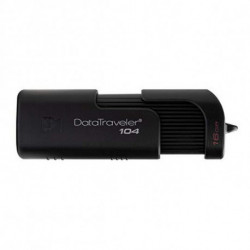 Kingston Technology DataTraveler 104 unidade de memória USB 64 GB USB Tipo A 2.0 Preto DT104/64GB
