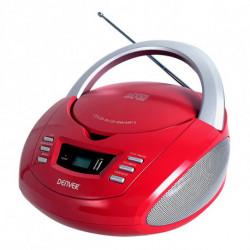 Denver Electronics TCU-211RED leitor de CD Leitor de CD pessoal Vermelho, Prateado
