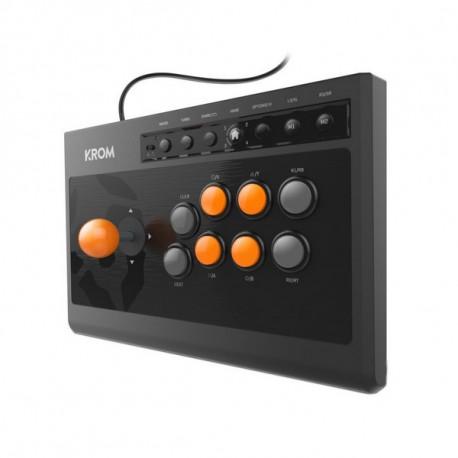Krom Gamepad Kumite Negro Naranja