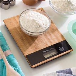 Digitale Küchenwaage aus Bambus 5 kg