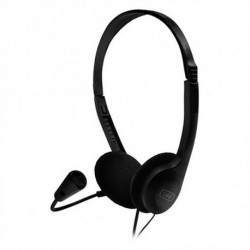 1LIFE Casques avec Microphone 1IFEHSSNDONE (3.5 mm) Noir