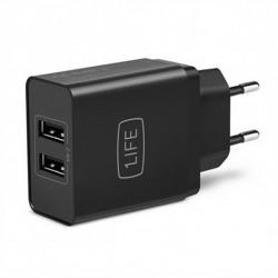 1LIFE Wall Charger 1IFEPA2USB USB Black